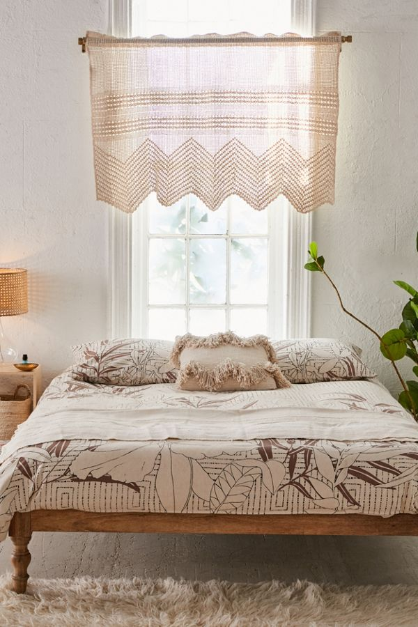 macrame window valance for Boho statement