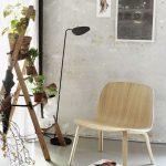 Simple Scandinavian Lounge Chair Made Of Light Wood