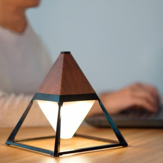 Pyramid desk lamp with waterproof and portable benefits
