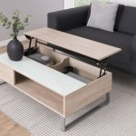 Clean Line And Minimalist Coffee Table With Lifted Top