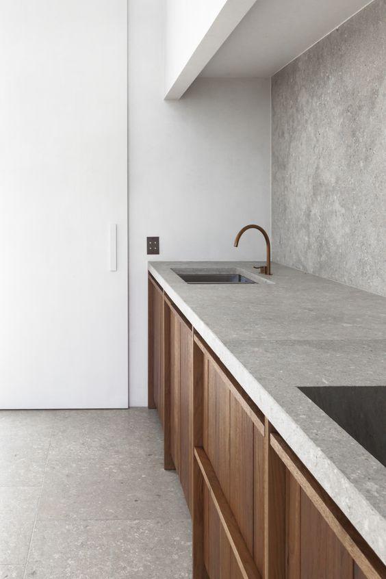 concrete backsplash idea concrete kitchen countertop hardwood kitchen cabinets