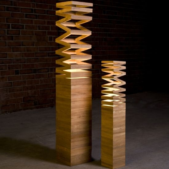 contemporary floor lamps made of wooden