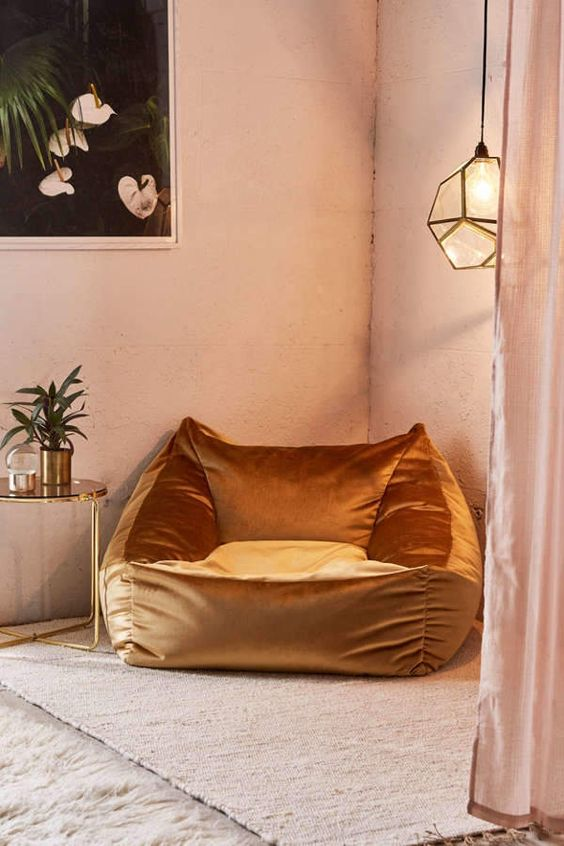 cooper velvet lounge chair by Urban Outfitters
