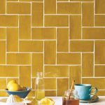 Earth Color Toned Metro Tiled Walls With White Grout