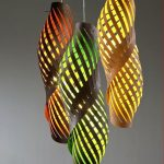 Stunning Interior Lighting Fixtures In Pop Of Colors And Unique Shape