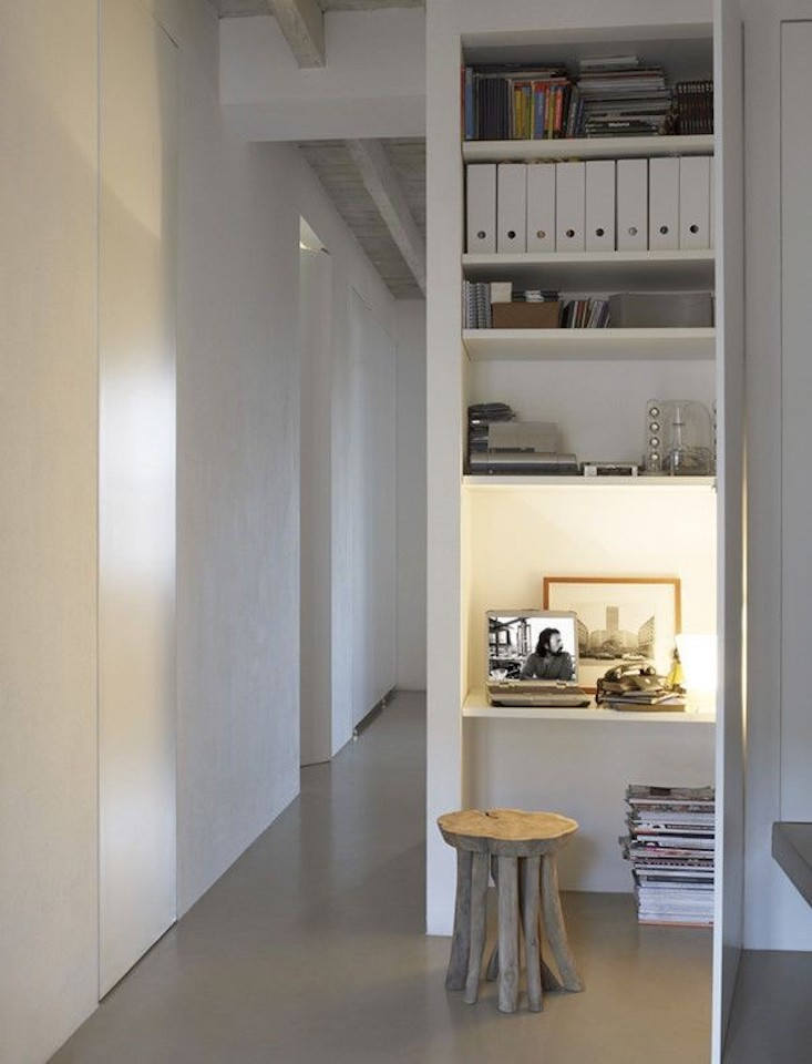 tiny home office in the closet