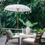 Wood Umbrella Inspired By Balinese Wedding Decoration Hardwood Outdoor Furniture