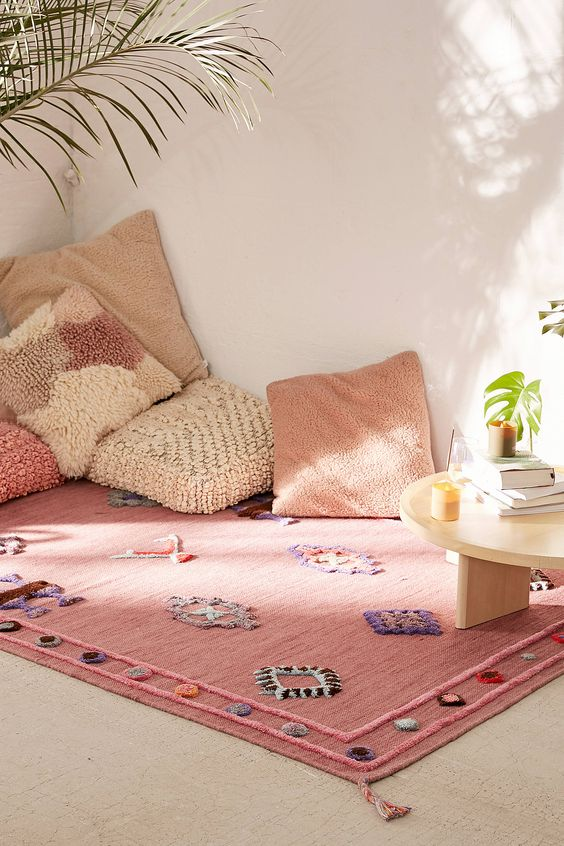 Rosalita Rug by Urban Outfitters some floor pillows