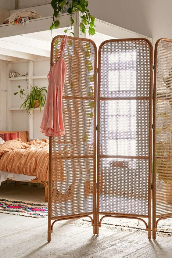 bamboo room partition for apartment