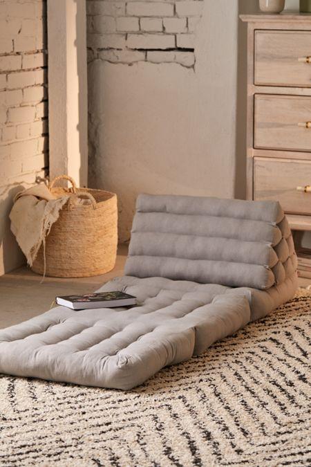braided jute floor pillow in gray
