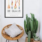 Egg Lounge Chair Made Of Rattan With Tripod Legs Chic Vintage Area Rug In White