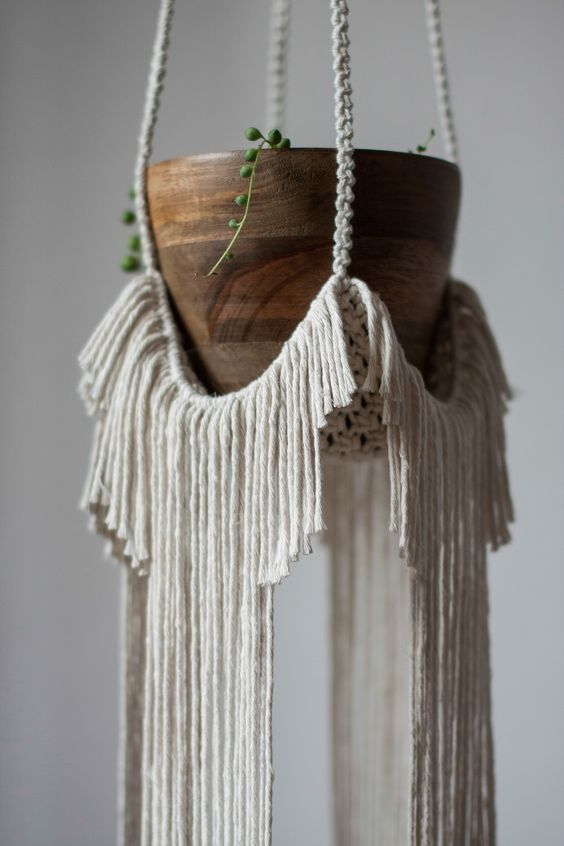 macrame planter for Boho appeal