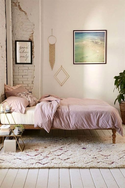 smooth surface rug blush pink duvet cover tiny bedside table made of wire