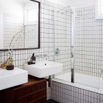 Vertical Stacked Subway Tile Installation For Bathroom