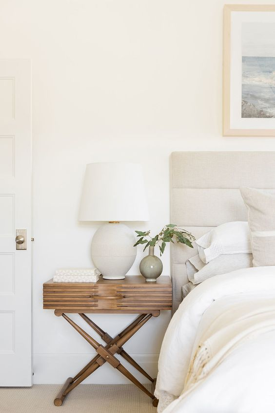 x base nightstand desk lamp with white lampshade