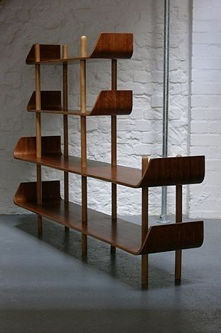 huge midcentury modern bookshelves for modern personal library