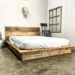 Low Profile Platform Wood Bed Frame With Headboard