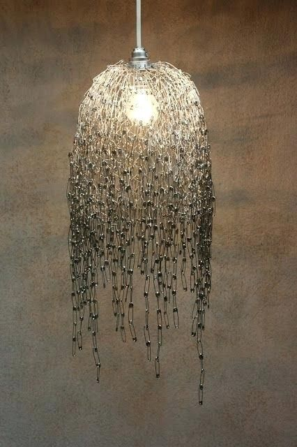 chicken wire chandelier inspired by wooden chicken coop
