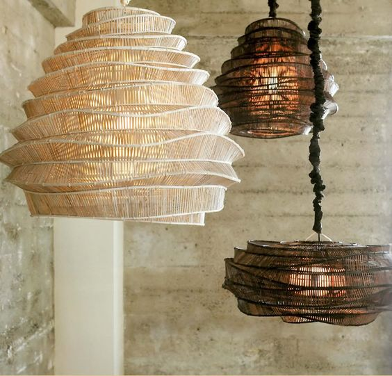 cloud like bamboo chandeliers in espresso and whitewashed finish