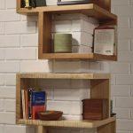 Corner Wood Display Shelving Unit