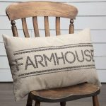 Cotton Accent Pillow With FARMHOUSE Highlight