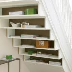 Recessed Shelving Unit Under The Staircase