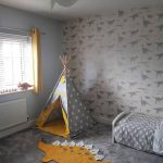 Soft Gray Boy's Room Adorable Dinosaur Wallpapers Cute Dinosaur Rug In Mustard And White Gray Tepee With Mustard Inner Textile