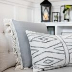 Soft Neutral Accent Pillows With Fringes