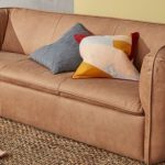 Berko Sofa In Tan Leather Finish