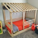 Lean To Bed Frame With Slanted Roof Top And Railing System