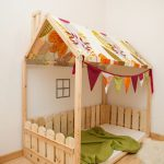 Montessori Bed Frame As Playhouse Or Play Tent For Kids