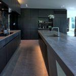 Elegant Black Kitchen Idea Matte Black Kitchen Counter With Under Lighting Matte Black Kitchen Cabinets Black Matte Floors