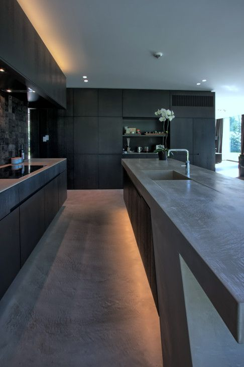 elegant black kitchen idea matte black kitchen counter with under lighting matte black kitchen cabinets black matte floors