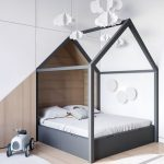 House Bed In Black Finish