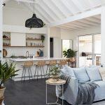 Open Concept Interior Consisting Of Kitchen Breakfast Nook Living Room