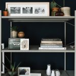 Rack For More Collections Such As Books Frames Ornate Vases And Greenery