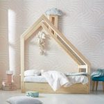 Unique House Bed For Kids Room Made Of Light Wood Material