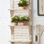 DIY Window Shutter For Wall Shelf