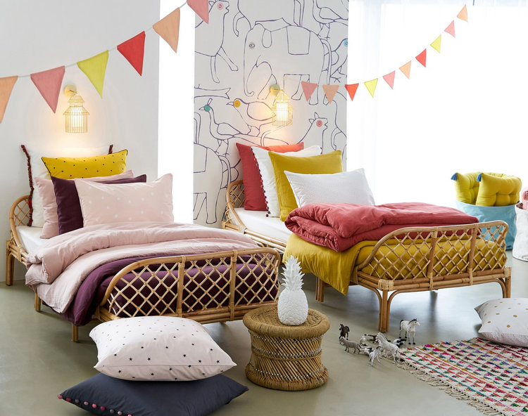 rattan bed for kids' room