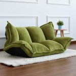 Japanese Folded Futon Sofa In Green