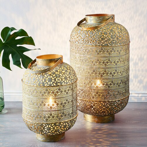 accent candle light stand inspired by Moroccan style