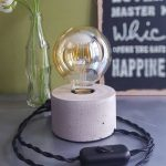 Accent Table Lamp With Bigger Concrete Base