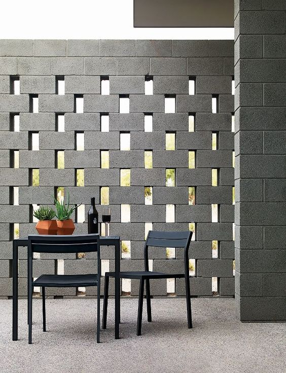 cement brick room partition idea