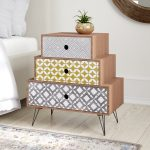 Cool Bedside Table With Three Drawers And Hairpin Legs