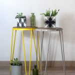 High Profile Side Table With Round Top And Hairpin Legs