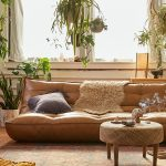Legless Greta Sleeper Sofa With Recycled Leather Upholstery And Recycled Foam Cushions