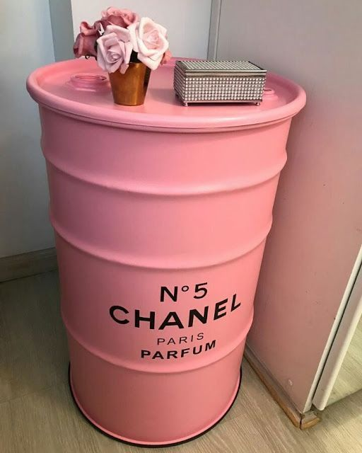 oil drum furniture idea in pink