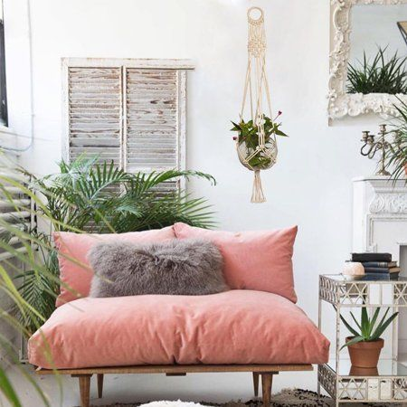 wood bench with back rest and coral cushions