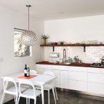 Cool Kitchen And Breakfast Nook In Garage Conversion