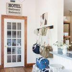 Modern Hallway Idea With Vintage Hang Sign Modern Industrial Light Fixture